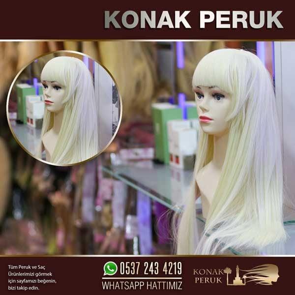 düz saç uzun sarışın peruk